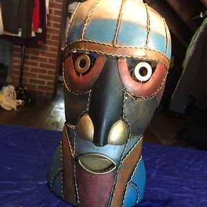 Other - Metal African Candle Holder Mask